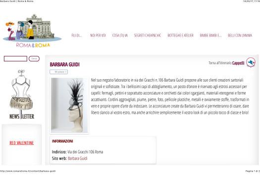 Barbara Guidi | Roma & Roma